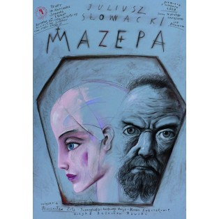 Mazepa Leszek Żebrowski Polnische Theaterplakate