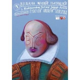 Shakespeares Geburtstagswoche Leszek Żebrowski Polnische Theaterplakate