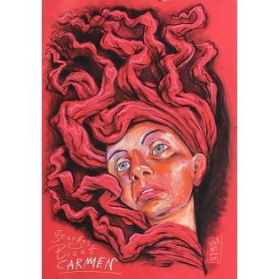 Carmen Georges Bizet Leszek Żebrowski Polnische Opernplakate