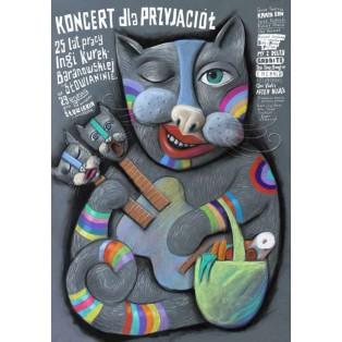 Konzert für Freunde Leszek Żebrowski Polnische Musikplakate