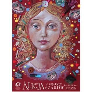 Alice in Wunderland Leszek Żebrowski Polnische Theaterplakate