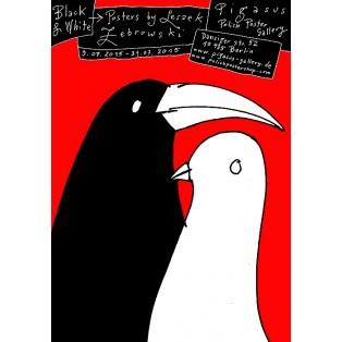 Black & White Ausstellung Pigasus Leszek Żebrowski Polnische Ausstellungsplakate