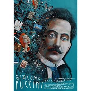 Giacomo Puccini Leszek Żebrowski Polnische Opernplakate