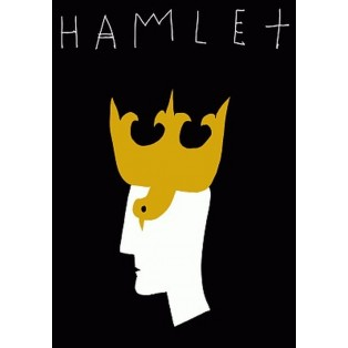 Hamlet William Shakespeare Leszek Żebrowski Polnische Theaterplakate