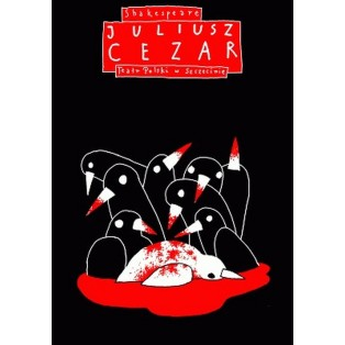 Julius Caesar William Shakespeare Leszek Żebrowski Polnische Theaterplakate