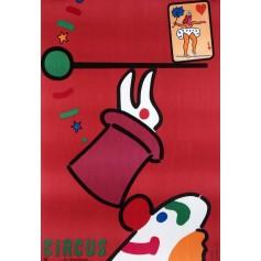 Zirkus Clown und Kaninchen