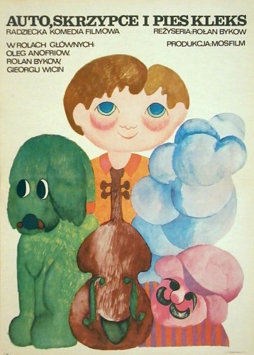 Auto, skrzypce i pies Kleks Rolan Bykov
