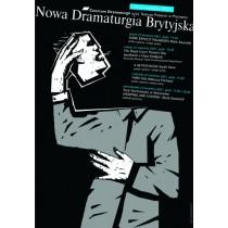Nowa Dramaturgia Brytyjska Mirosław Adamczyk polski plakat