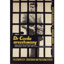 Dr Corda aresztowany Zygmunt Anczykowski polski plakat