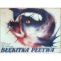 Błękitna płetwa Carl Schultz Danuta Baginska-Andrejew Danka polski plakat