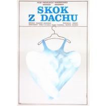 Skok z dachu Vladimir Grigorev Danuta Baginska-Andrejew Danka polski plakat