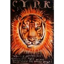 Cyrk Tygrys Jerzy Czerniawski polski plakat