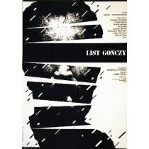 List gończy Stanislav Strnad Witold Dybowski polski plakat