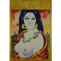 Rzym Federico Fellini  polski plakat