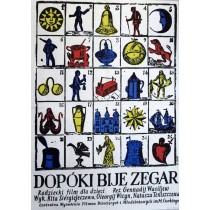 Dopóki bije zegar Jerzy Flisak polski plakat