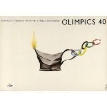 Olimpics 40 Jerzy Flisak polski plakat