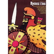 Rycerz i los Boris Kimiagarov Jerzy Flisak polski plakat