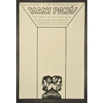 Biały pokój Jerzy Flisak polski plakat