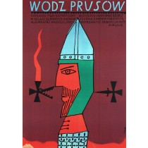 Wódz Prusów Jerzy Flisak polski plakat