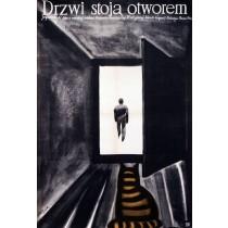 Drzwi stoją otworem Jerzy Flisak polski plakat