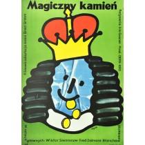 Magiczny kamień Jerzy Flisak polski plakat