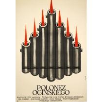 Polonez Ogińskiego Jerzy Flisak polski plakat