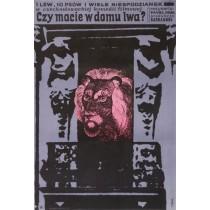 Czy macie w domu lwa? Jerzy Flisak polski plakat