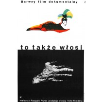 To także Włosi  Jerzy Flisak polski plakat