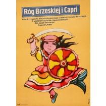 Róg Brzeskiej i Capri Jerzy Flisak polski plakat