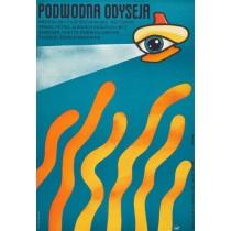 Podwodna odyseja Jerzy Flisak polski plakat