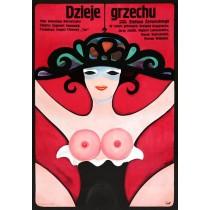 Dzieje grzechu Jerzy Flisak polski plakat
