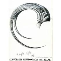 Opolskie Konfrontacje Teatralne - 9. Eugeniusz Get Stankiewicz polski plakat
