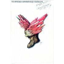 Opolskie Konfrontacje Teatralne - 7. Eugeniusz Get Stankiewicz polski plakat
