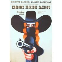 Królowe dzikiego zachodu Christian-Jaque Wiktor Górka polski plakat