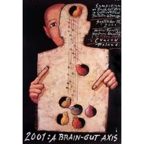 A Brain - gut axis Mieczysław Górowski polski plakat