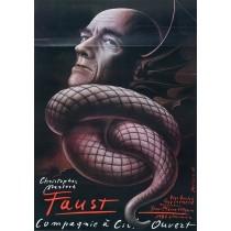 Faust, Christopher Marlowe Mieczysław Górowski polski plakat