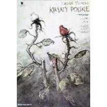 Kwiaty polskie Wiesław Grzegorczyk polski plakat