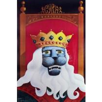Cyrk Lew w koronie Hubert Hilscher polski plakat