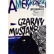 Czarny mustang George Sherman Maria Ihnatowicz polski plakat