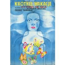 Krótkie wakacje Vittorio De Sica Maria Ihnatowicz polski plakat