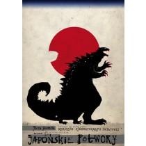 Japońskie potwory Ryszard Kaja polski plakat
