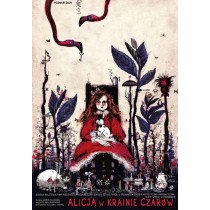 Alicja w krainie czarów Ryszard Kaja polski plakat