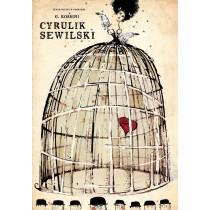 Cyrulik Sewilski Ryszard Kaja polski plakat