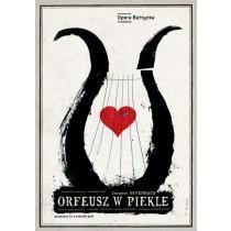Orfeusz w piekle Jakub Offenbach  polski plakat