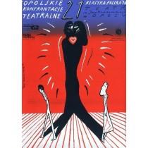 Opolskie Konfrontacje Teatralne 21. Roman Kalarus polski plakat