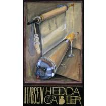 Hedda Gabler Leonard Konopelski polski plakat