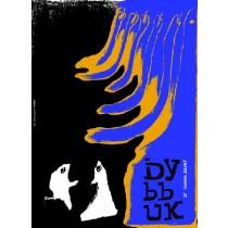 Dybbuk Sloyme Ansky Leonard Konopelski polski plakat