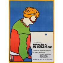 Krążek w bramce Igor Voznesensky Leonard Konopelski polski plakat