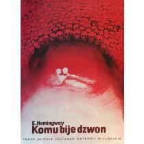 Komu bije dzwon Ernest Hemingway Leonard Konopelski polski plakat