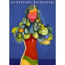 Bachantki Euripides Leonard Konopelski polski plakat
